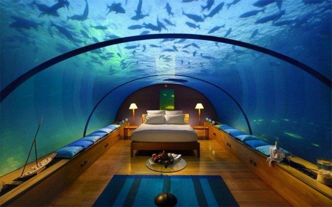 camera da letto subacquea
