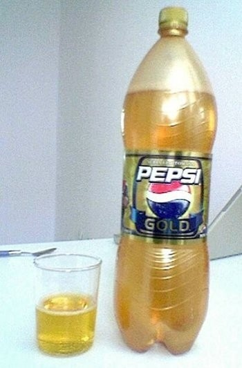 Pepsi Gold - white sapote flavor (Japan, Germany, Finland and Central Europe)