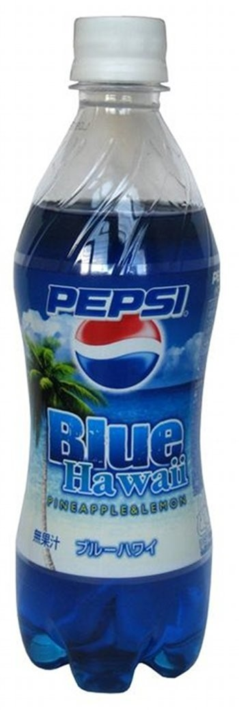 Pepsi Blue Hawaii - pineapple lemon flavored (Japan)