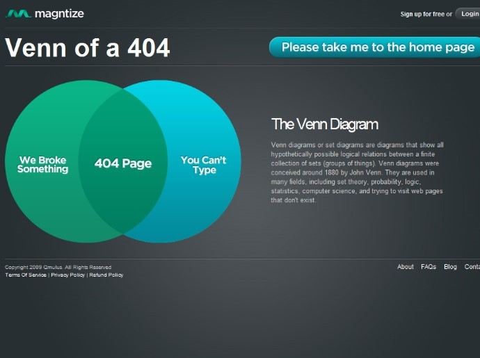 404 page venn diagram design