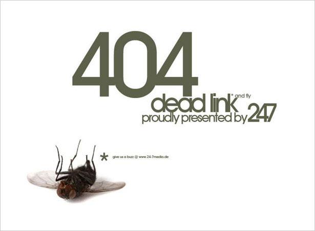 Dead link 404 page error
