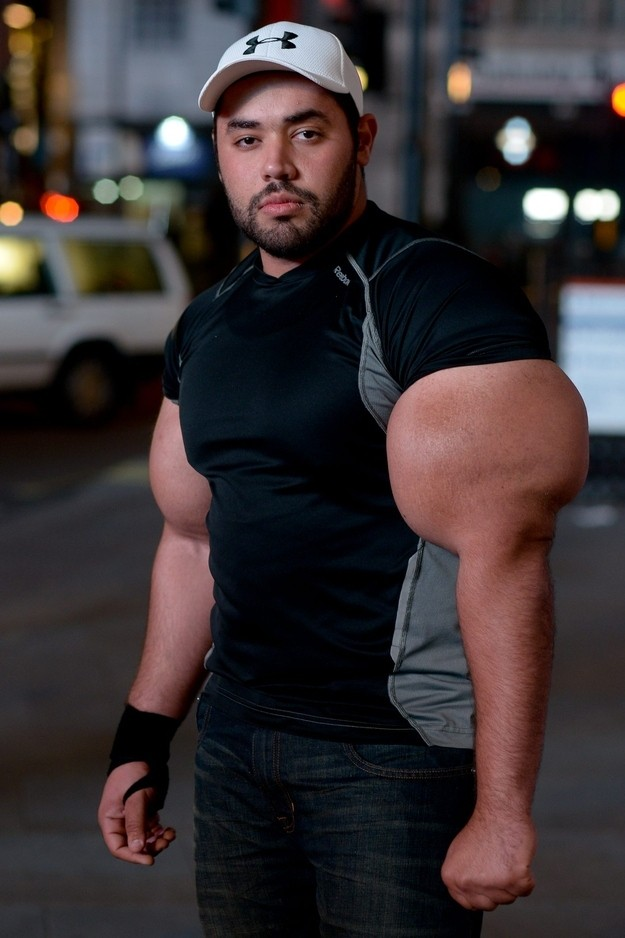 Moustafa, aka Big Mo, has spent the last ten years pumping iron twice a day.