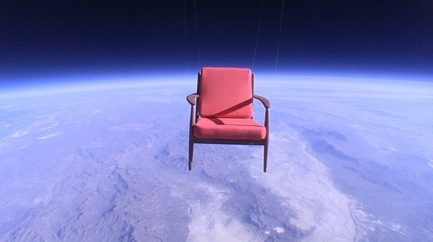 This Chair Floating In The Middle Of Space