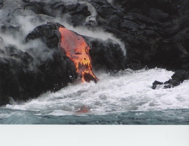 The Face Of A Skull Forming In This Wave Of Lava