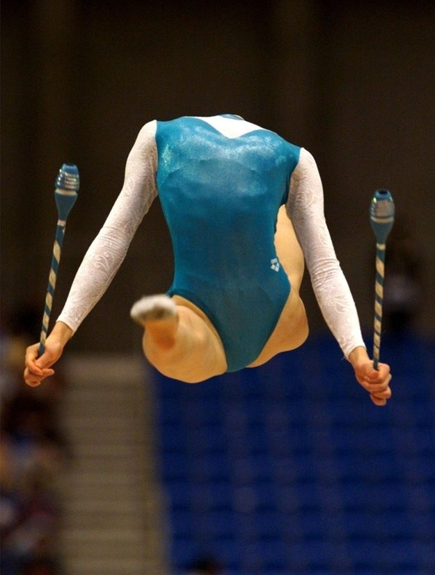 This Photo Of A Gymnast Caught In Mid Air