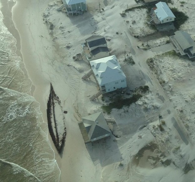 A Buried Ship Uncovered By Hurricane Isaac