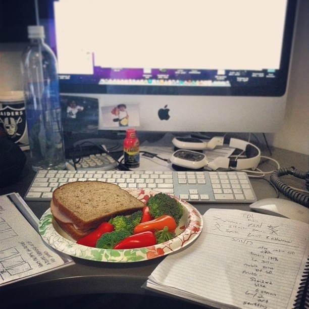 Eating lunch at your desk is an everyday occurrence.