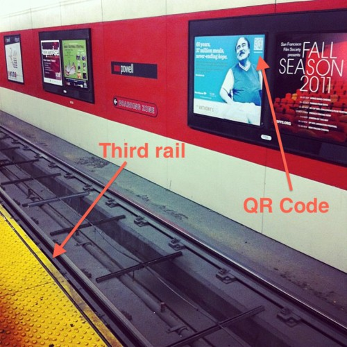 Seeing QR codes in impractical places makes you shake your head.