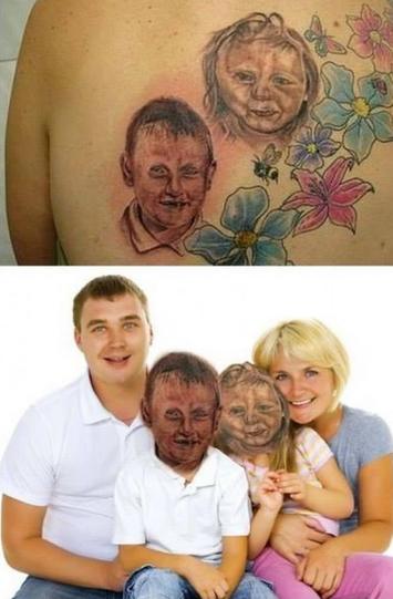 figlie tatuaggio brutto