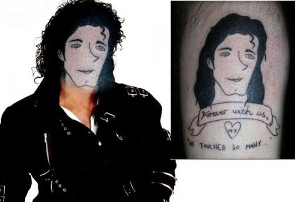 michael jackson tatuaggio brutto