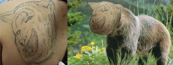 animale tatuaggio brutto