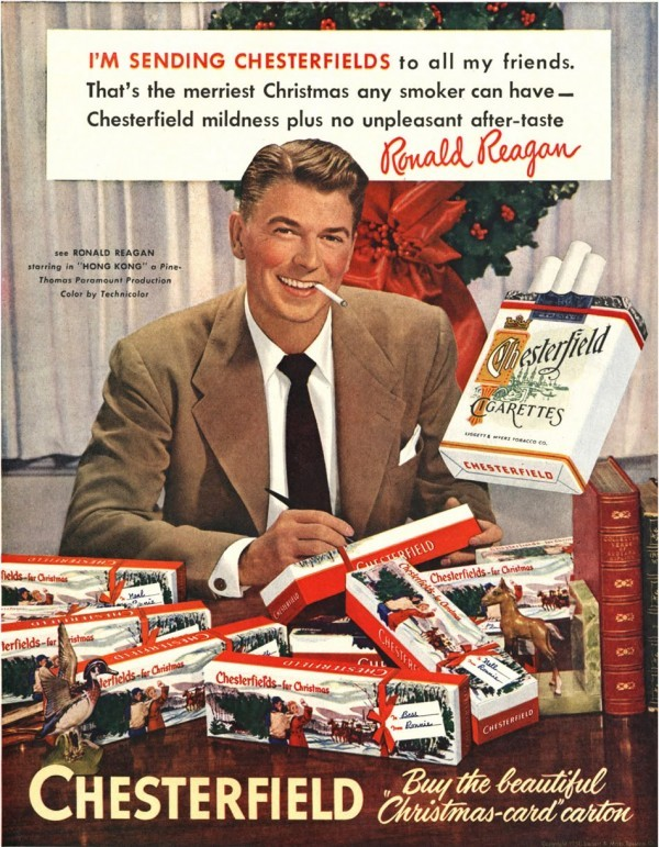 Christmas-Ronald-Reagan-Chesterfield-Ad-600x771