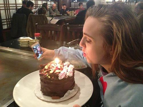 caught-taking-selfie-cake-birthday