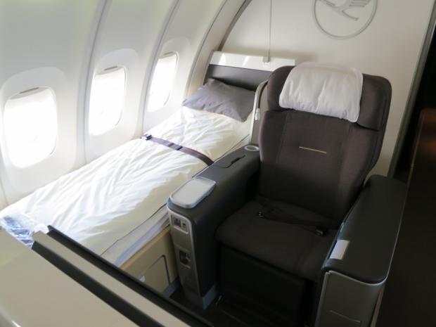 lufthansa first class seat and bed
