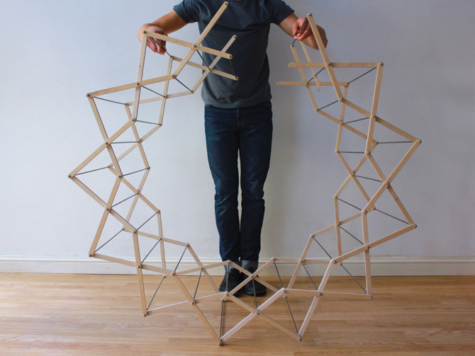 Closing the Loop of the Star Shaped Clothes Horse