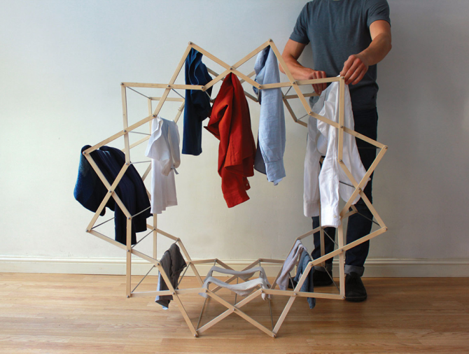 Looped Star Shaped Clothes Horse by Aaron Dunkerton