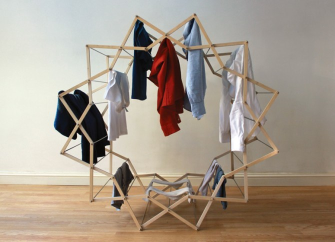 Star Shaped Clothes Horse by Aaron Dunkerton
