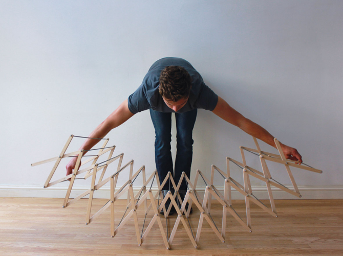 Stretching Out the Star Shaped Clothes Horse