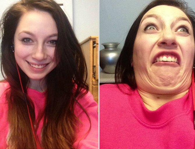 pretty girls making ugly faces 4  880