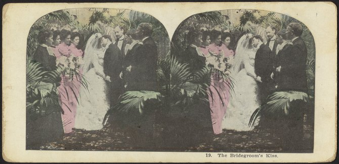19. The bridegrooms kiss