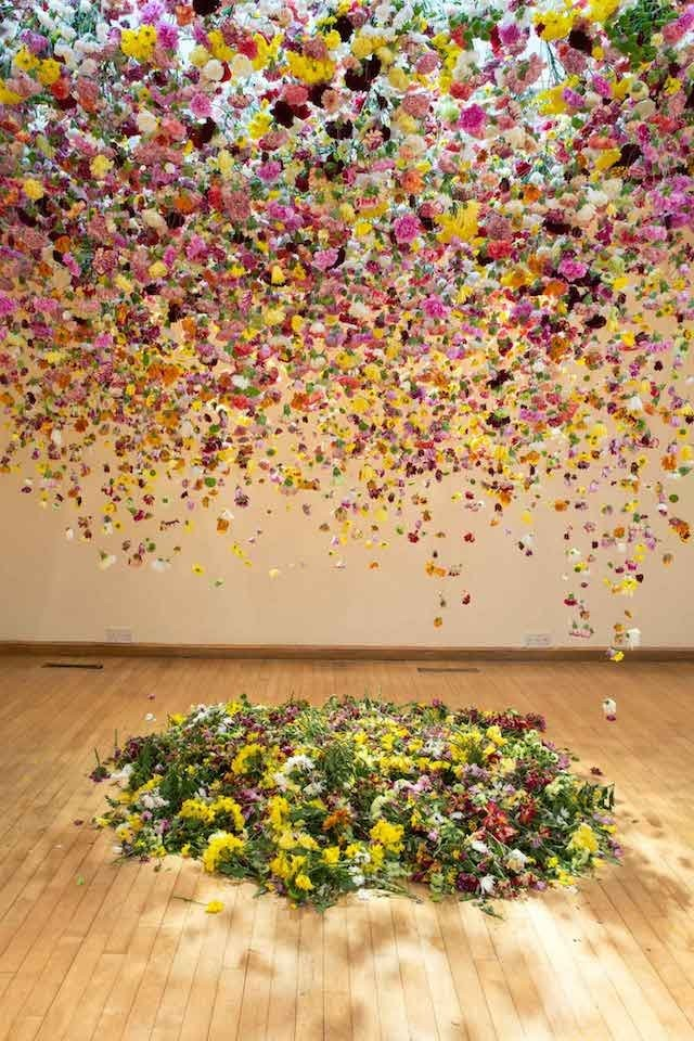 Suspended Flowers Installation 1