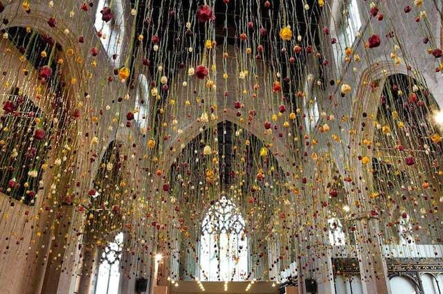 Suspended Flowers Installation 2