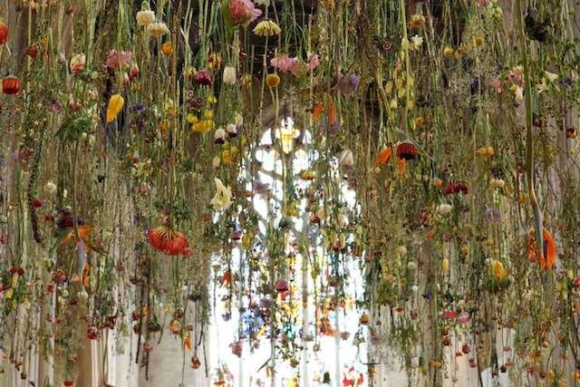 Suspended Flowers Installation 3