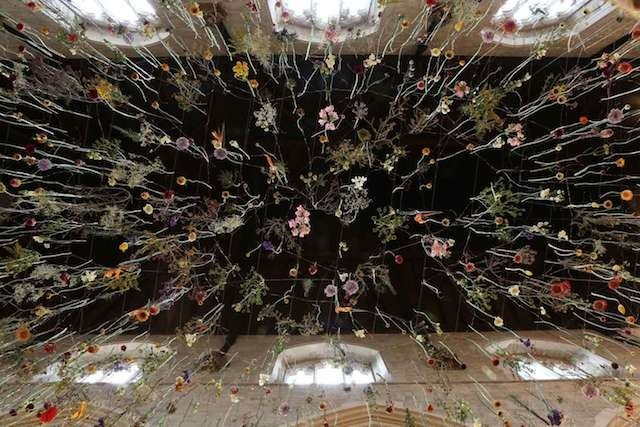 Suspended Flowers Installation 4
