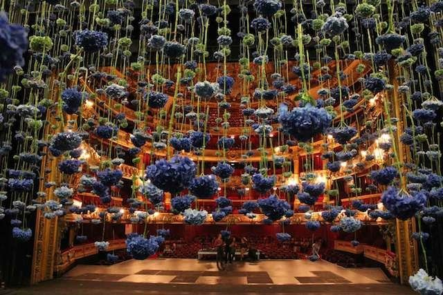 Suspended Flowers Installation 5