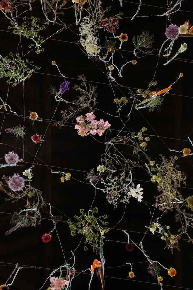 Suspended Flowers Installation 7