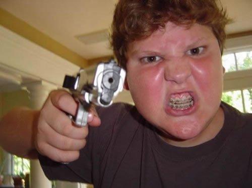 badass fails ginger gun