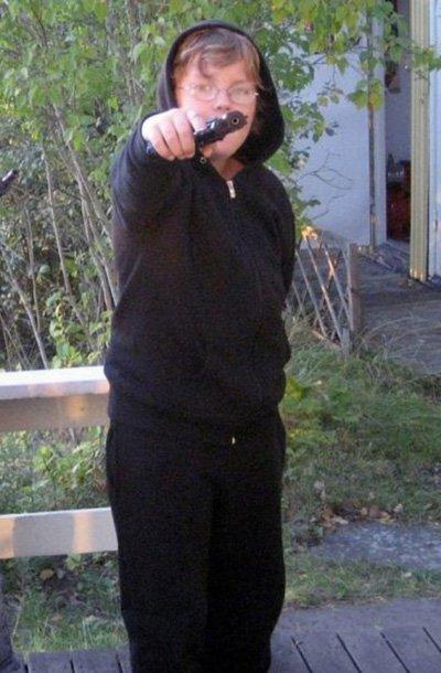 badass fails kid hoodie gun