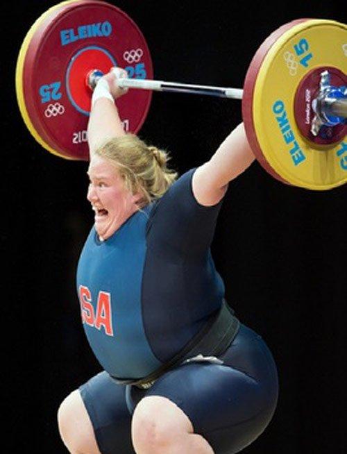 weight lifter crazy face