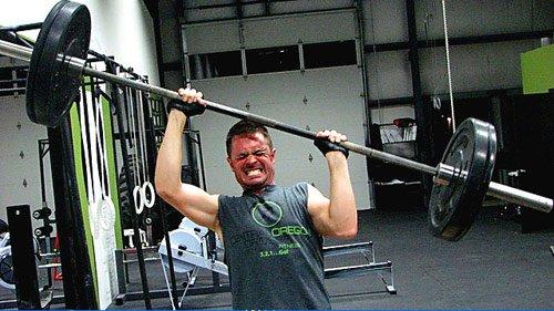 weight lifter head smash