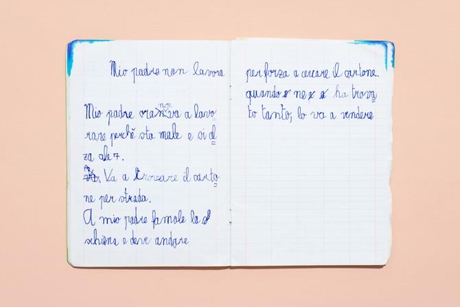 Eccezionale Una raccolta unica di quaderni di scuola e temi delle elementari  BA75