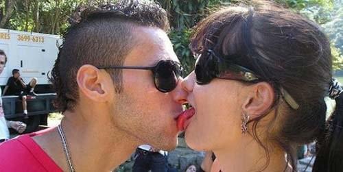 awkward kisses lick
