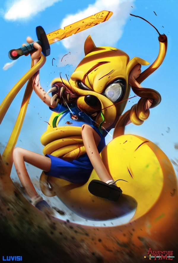 jake_the_snake___adventure_time___by_danluvisiart-d7douwt