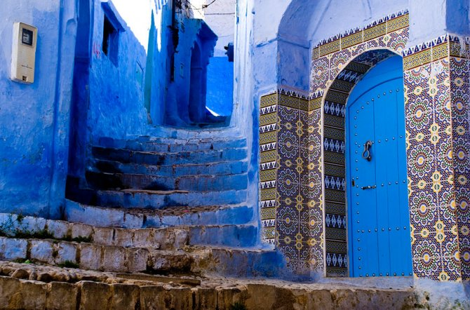 blue streets of chefchaouen morocco 11