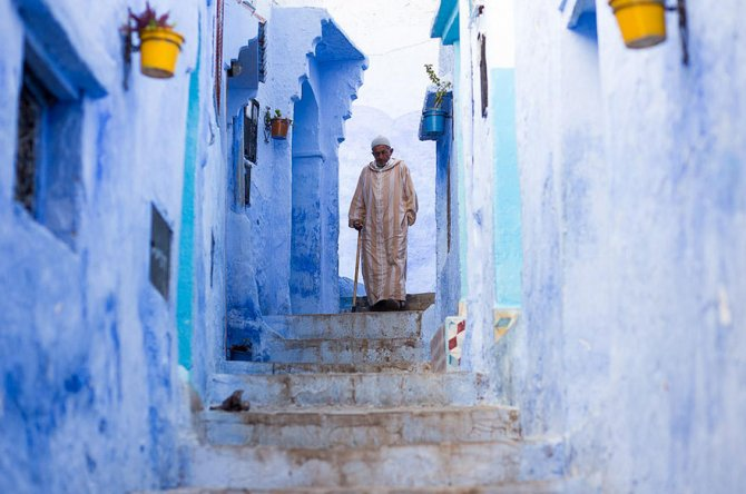 blue streets of chefchaouen morocco 7