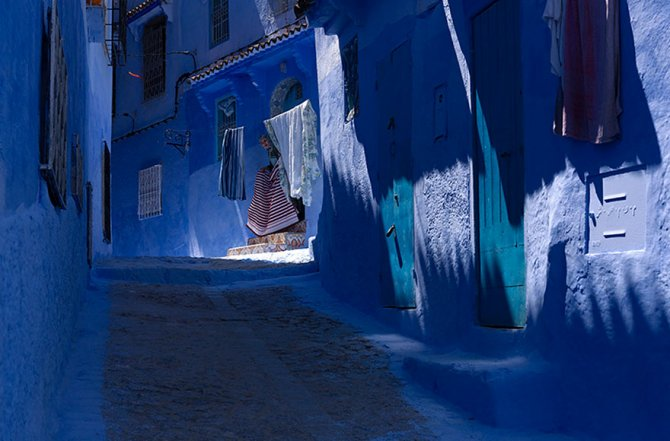 blue streets of chefchaouen morocco 9