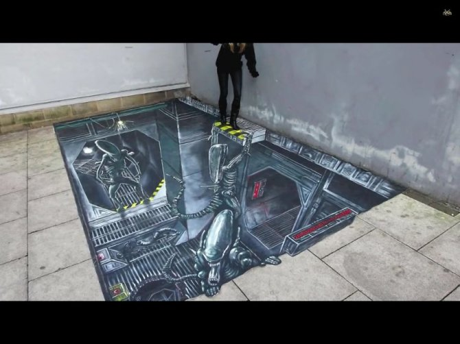 20 Awesome 3D Street Art Illusions1  880