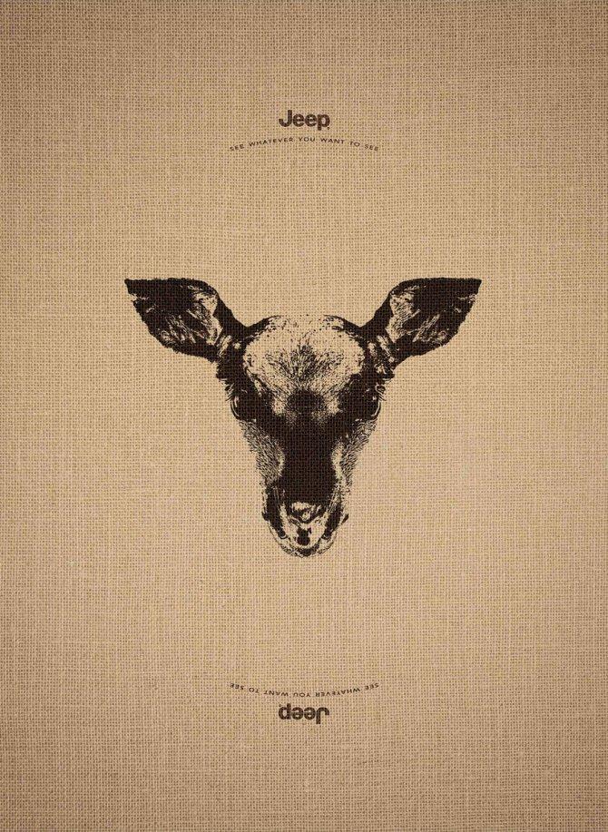 animal optical illusion jeep advertisement leo burnett 1