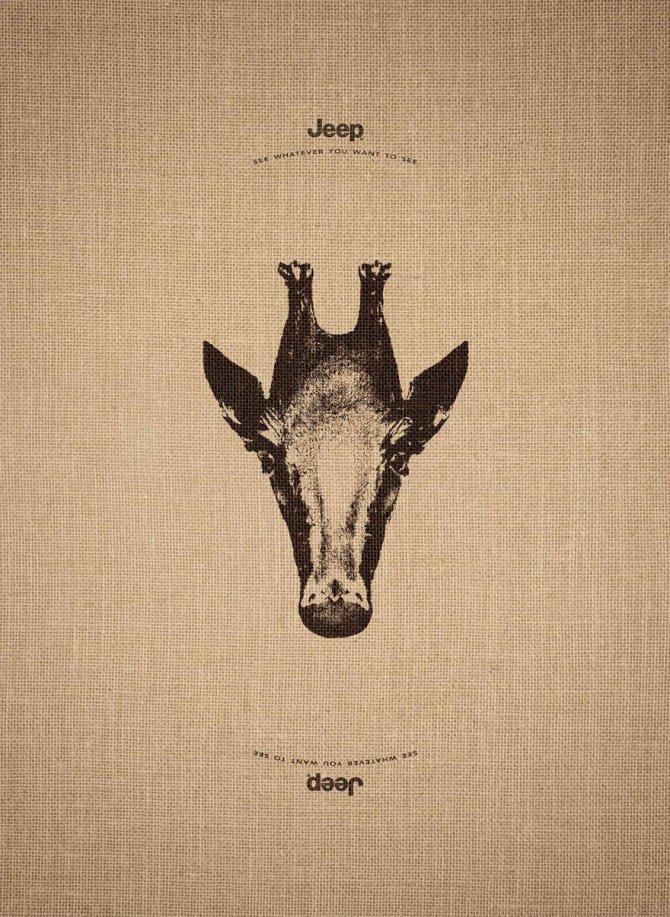 animal optical illusion jeep advertisement leo burnett 6