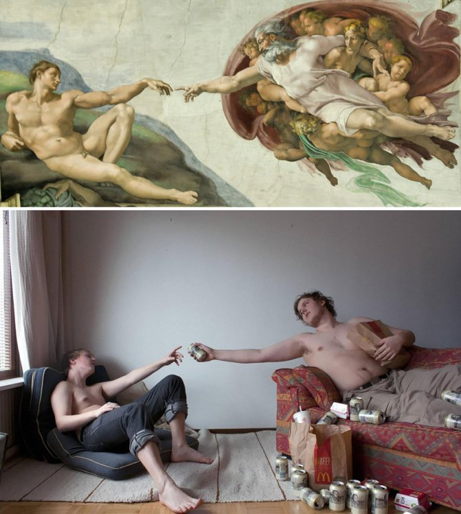 modern photo remakes famous paintings 1