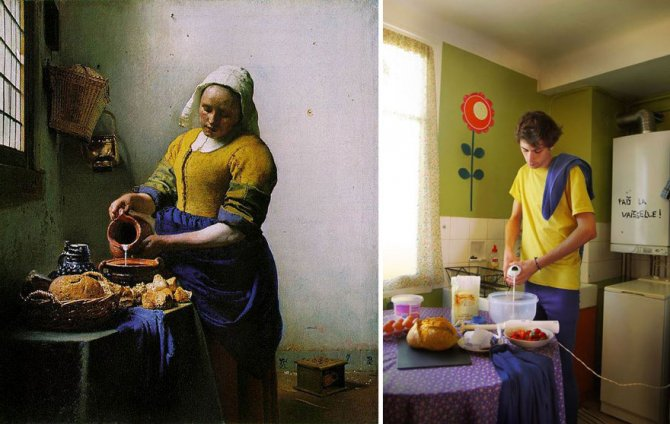 modern photo remakes famous paintings 12