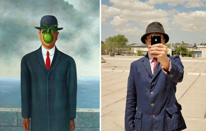 modern photo remakes famous paintings 13