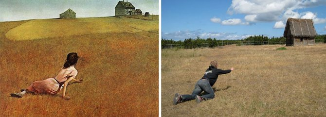 modern photo remakes famous paintings 20
