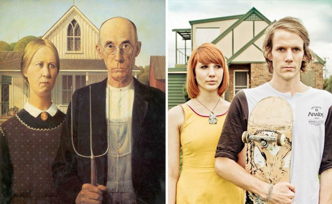 modern photo remakes famous paintings 3