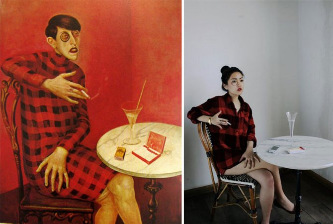 modern photo remakes famous paintings 5