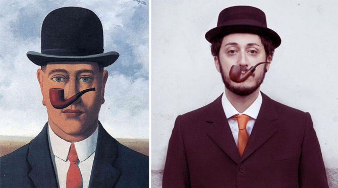 modern photo remakes famous paintings 66